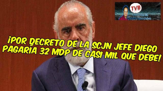 #OpiniónEnSerio ¡EN VIVO!: ¡Por decreto de la SCJN jefe diego pagaría 32 MDP de casi mil!